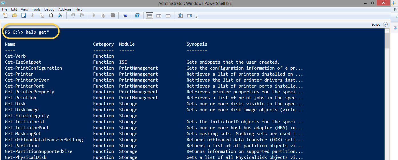 EXECUTING COMMANDS ON WINDOWS POWERSHELL ISE - Aware Group